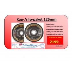 Kap-/slip-paket 125mm, 100pack